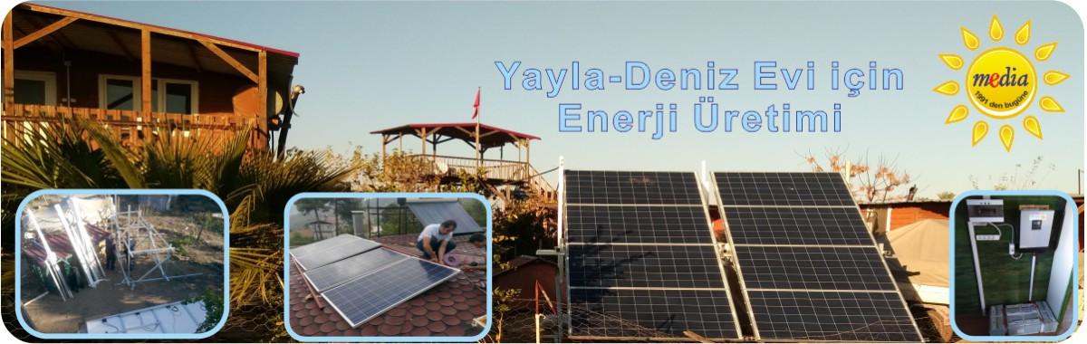 Yayla-Deniz Evi, Güneşten Enerji Üretimi