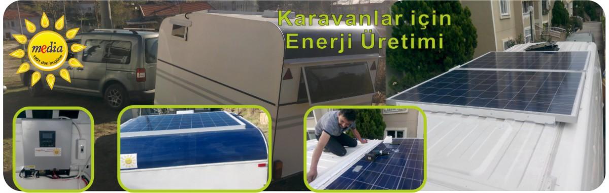 Karavan, Güneşten Enerji Üretimi